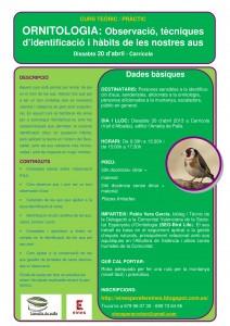 Curs iniciació ornitologia a l'Ametla de Palla