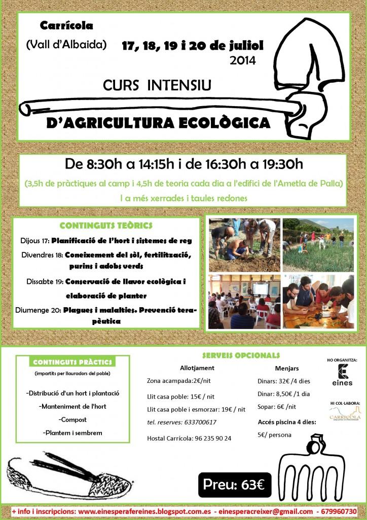II edició curs intensiu agricultura ecològica